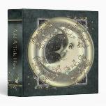 """Diseño celestial 1,5"""" de la luna carpeta de Avery"""