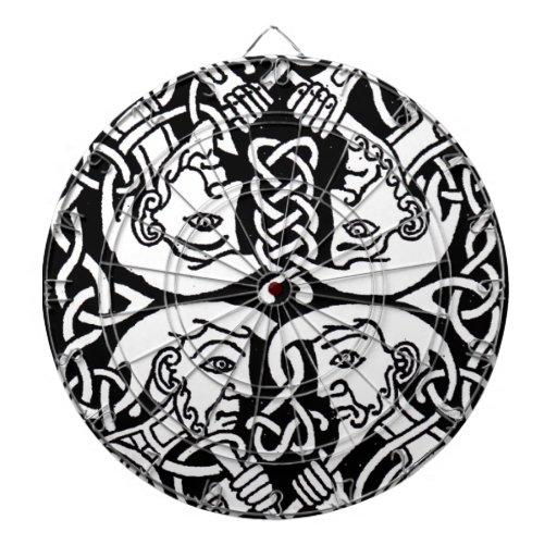 Diseño céltico 12 tablero de dardos