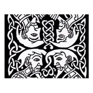 Diseño céltico 12 tarjetas postales