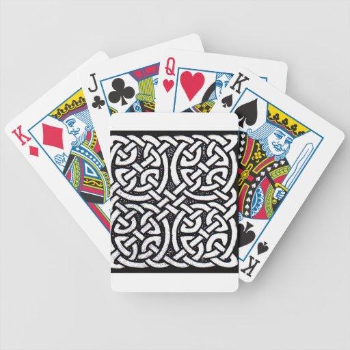 Diseño céltico 4 cartas de juego