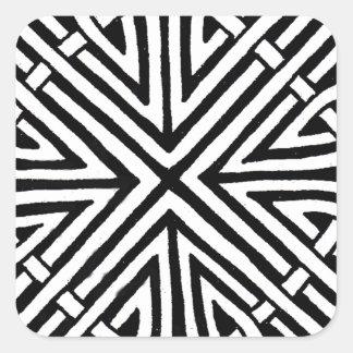 Diseño céltico 5 pegatina cuadrada