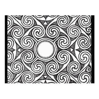 Diseño céltico 7 postal