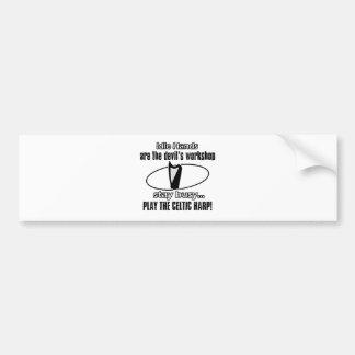 diseño céltico de la música de la arpa pegatina para auto