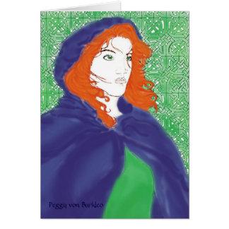 Diseño céltico de la tarjeta, de Bridget y de Knot