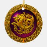 Diseño céltico del caballo adorno de navidad