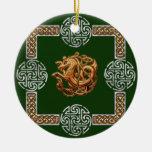 Diseño céltico del caballo ornaments para arbol de navidad