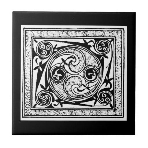 Diseño céltico del nudo azulejos