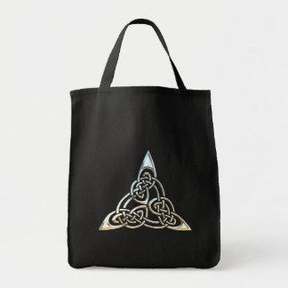 Diseño céltico del nudo de los espirales negros de
