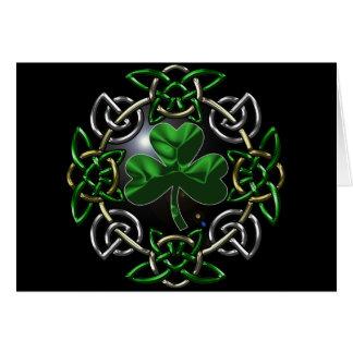 Diseño céltico del nudo del día de St Patrick Tarjeton