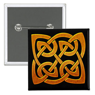 Diseño céltico irlandés de oro céltico D2 Pin Cuadrada 5 Cm