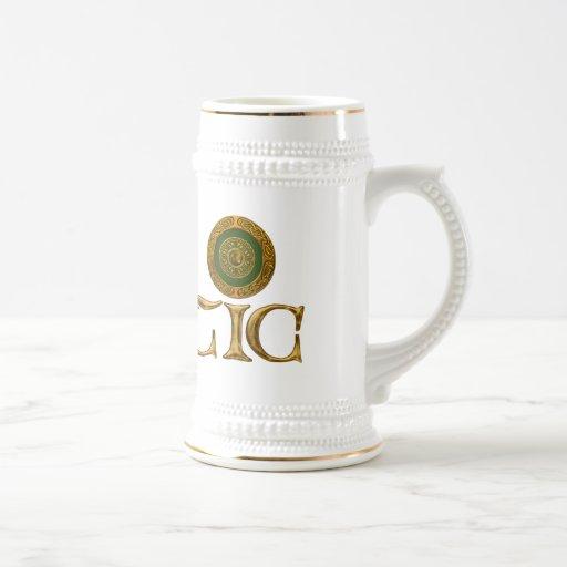 Diseño céltico jarra de cerveza