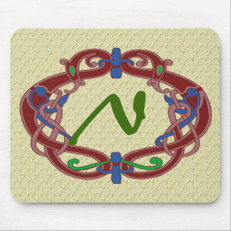 Diseño céltico Mousepad de las iniciales cones mon Tapete De Raton