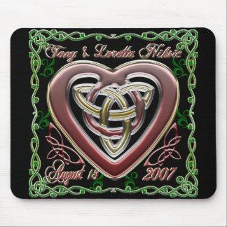 Diseño céltico Mousepad del boda del aniversario d Alfombrillas De Ratones