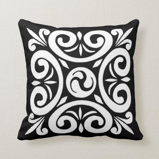 Diseño céltico negro y blanco - almohada cojín decorativo