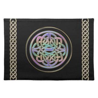Diseño céltico Placemat del nudo del arco iris en Manteles Individuales