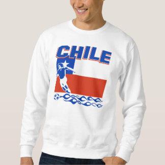 Diseño chileno del fútbol sudaderas encapuchadas