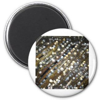 Diseño chillón de la gota imán redondo 5 cm