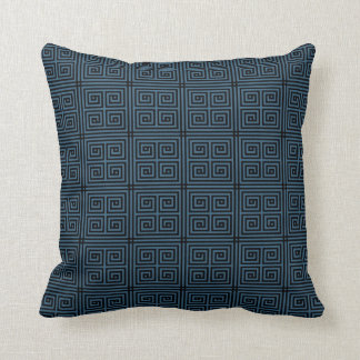 Diseño chino/asiático azul 4 de la almohada del mo