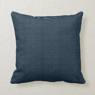 Diseño chino/asiático azul de la almohada del mode