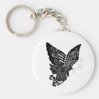 Diseño chino de la mariposa del Papel-Cut - llaver Llaveros