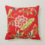Diseño chino del bordado de flores cojines