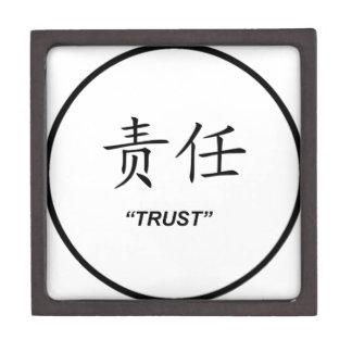 """Diseño chino del símbolo de la """"confianza"""" cajas de joyas de calidad"""