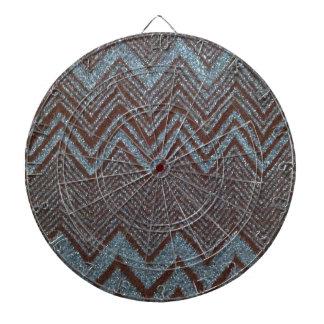 Diseño chispeante del zigzag tabla dardos