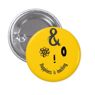 Diseño chistoso para los profesores chapa redonda 2,5 cm