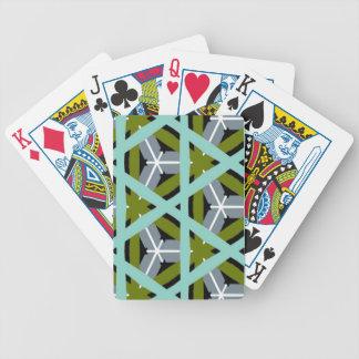 Diseño ciánico gris retro del verde verde oliva baraja cartas de poker