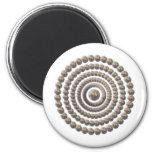 Diseño circular de desierto Globemallow Imán