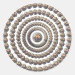 Diseño circular de desierto Globemallow Pegatina Redonda