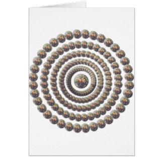 Diseño circular de desierto Globemallow Felicitación