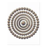 Diseño circular de desierto Globemallow Tarjeta Postal