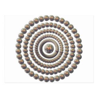 Diseño circular de desierto Globemallow Postales