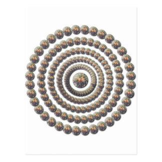Diseño circular de desierto Globemallow Tarjetas Postales