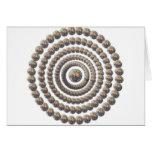 Diseño circular de desierto Globemallow Tarjetón