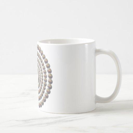 Diseño circular de desierto Globemallow Tazas De Café