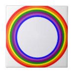 Diseño circular del arco iris azulejos ceramicos