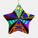 Diseño circular del verde anaranjado moderno del r ornamento para arbol de navidad