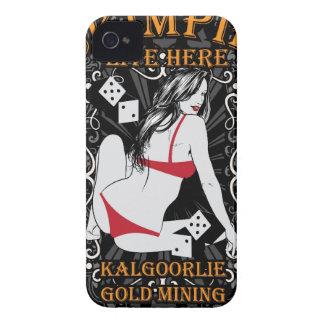Diseño ciudad-escaso de la minería aurífera de Kal iPhone 4 Carcasas