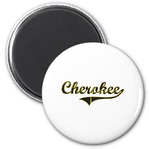 Diseño clásico cherokee de Iowa Imán Redondo 5 Cm