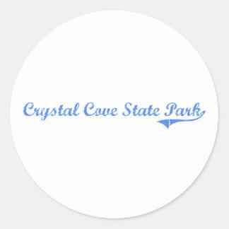 Diseño clásico cristalino de California del parque Pegatina Redonda