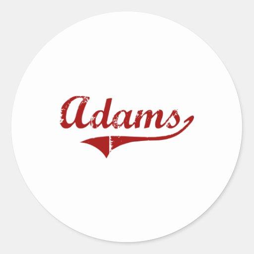 Diseño clásico de Adams Wisconsin Pegatina Redonda