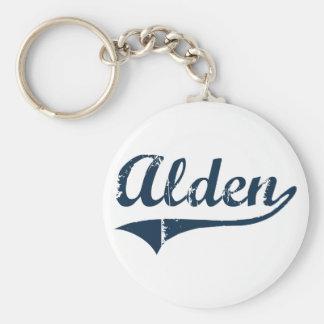 Diseño clásico de Alden Nueva York Llavero Redondo Tipo Pin