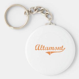 Diseño clásico de Altamont Illinois Llavero Personalizado