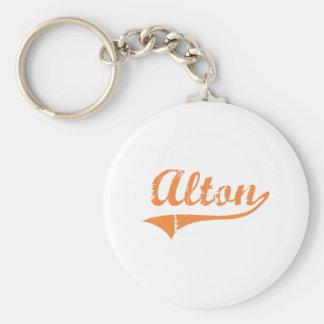 Diseño clásico de Alton Illinois Llavero Redondo Tipo Pin
