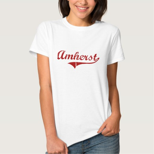Diseño clásico de Amherst Massachusetts Poleras