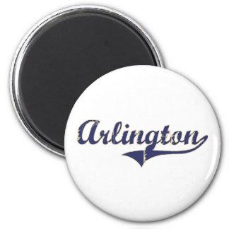 Diseño clásico de Arlington Washington Imán Redondo 5 Cm