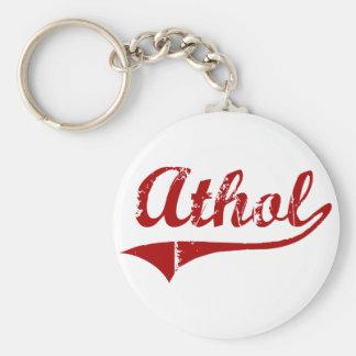 Diseño clásico de Athol Massachusetts Llaveros Personalizados
