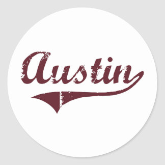 Diseño clásico de Austin Minnesota Pegatinas Redondas